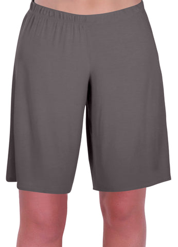 Star Jersey Elasticized Stretch Womens Plus Size Shorts
