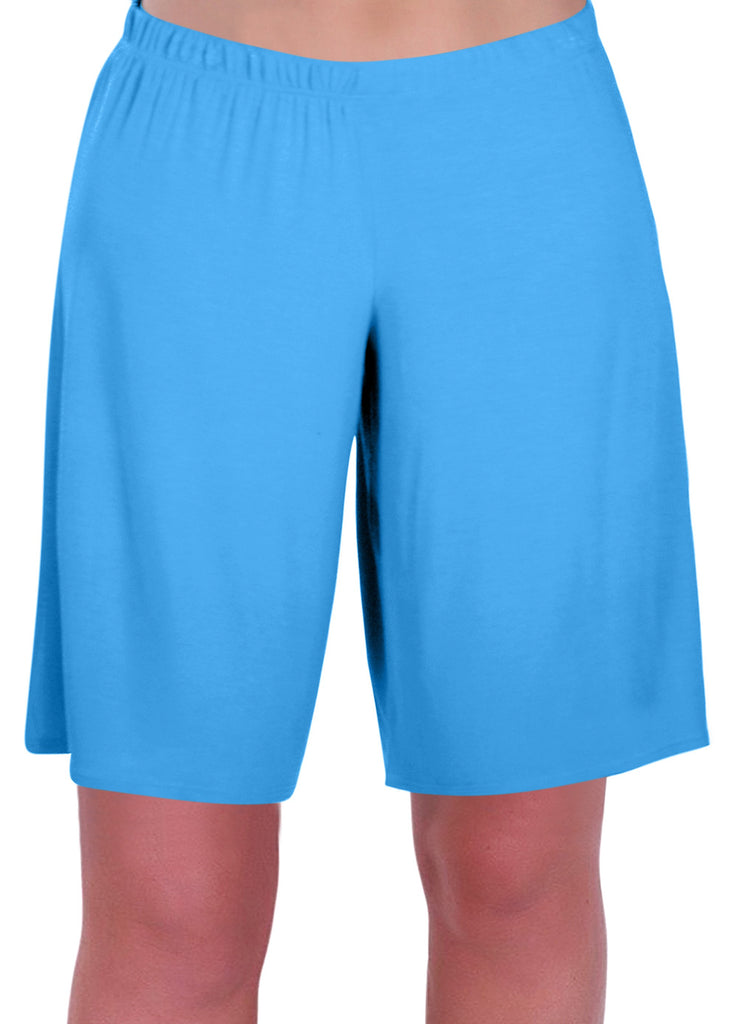 1Star Jersey Elasticized Stretch Womens Plus Size Shorts