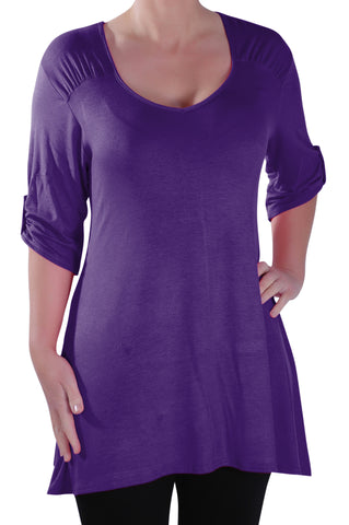 Stella Scoop Neck Plus Size Tunic Top