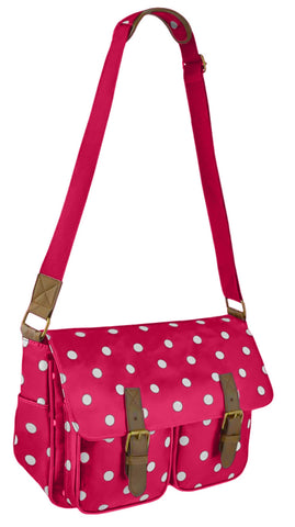 Spotty Polka Dot Faux Leather Shoulder Bag