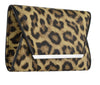 Animal Print Faux Leather Clutch Bag