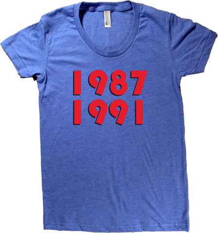 1987 1991 Minnesota T-Shirt - Women's Fitted