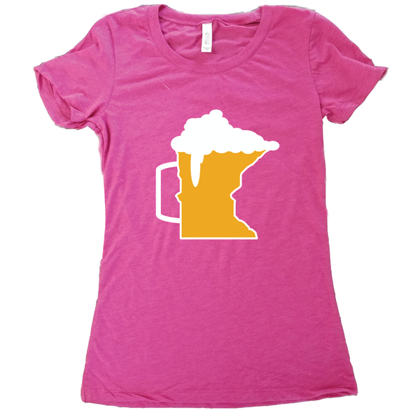 Beer Mug Minnesota T-Shirt - Women's Fitted