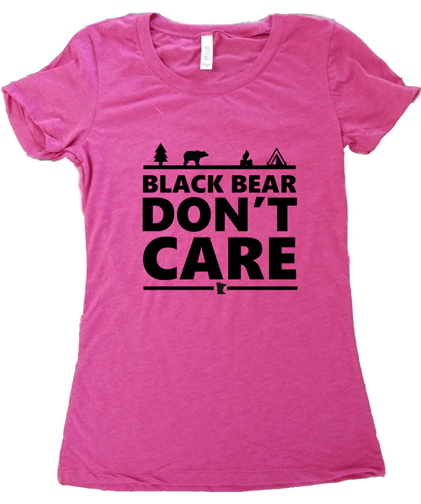 e05358ed499 Black Bear Don t Care Minnesota T-Shirt - Women s Fitted