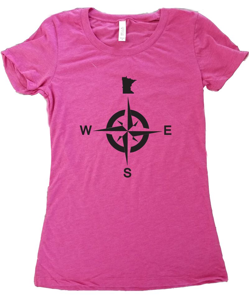 Minnesota North Compass T-Shirt - Women's Fitted