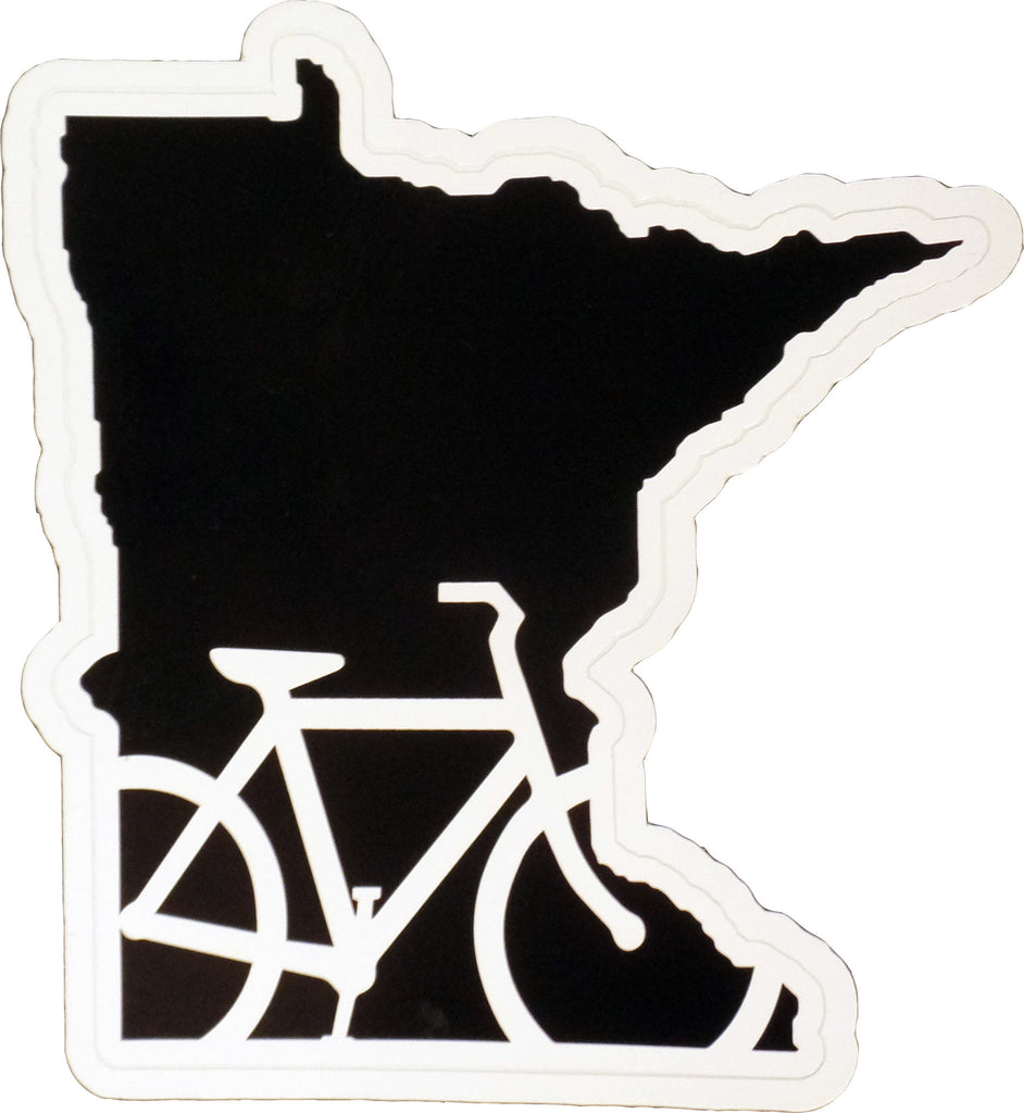 Bike Minnesota Vinyl Sticker