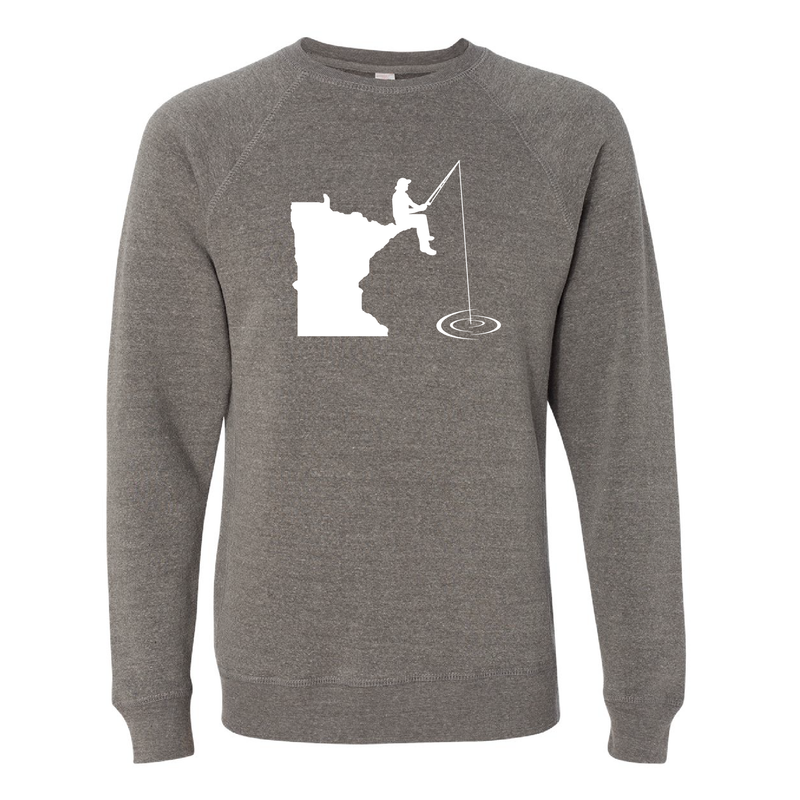 Fishing Minnesota Crew Neck Sweatshirt