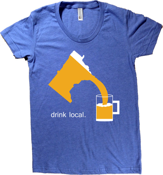 Drink Local Beer Minnesota T-Shirt - Women's Fitted
