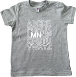 The ABC Minnesota Kids T-Shirt