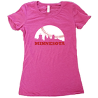 Skyline Minnesota Baseball T-Shirt - Women's Fitted