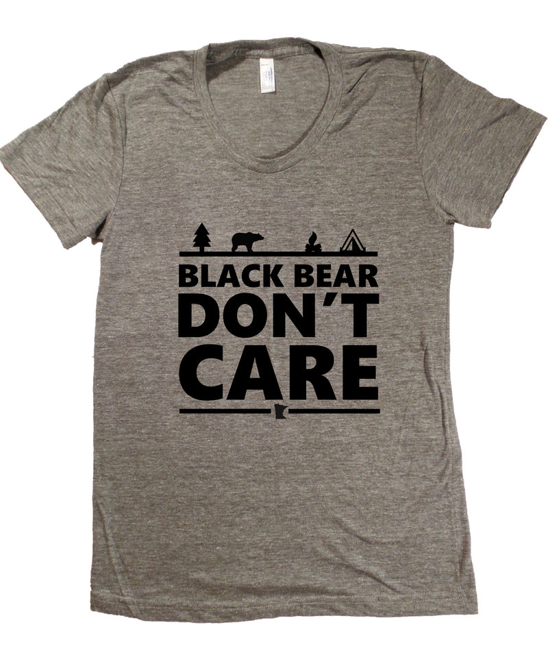 Black Bear Don't Care Minnesota T-Shirt - Women's Fitted