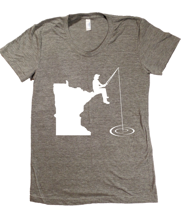 Minnesota Fishing T-Shirt - Women's Fitted