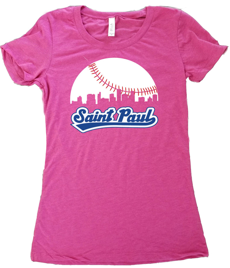 Skyline Saint Paul Baseball T-Shirt - Women's Fitted