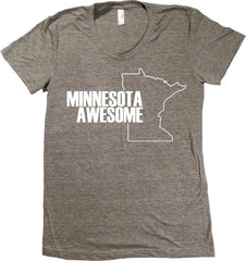 Minnesota Awesome T-Shirt - Women's Fitted