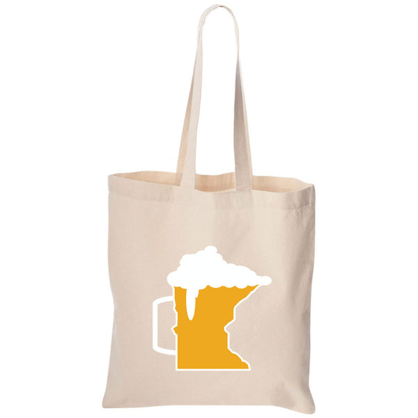 Beer Mug Minnesota Canvas Tote Bag