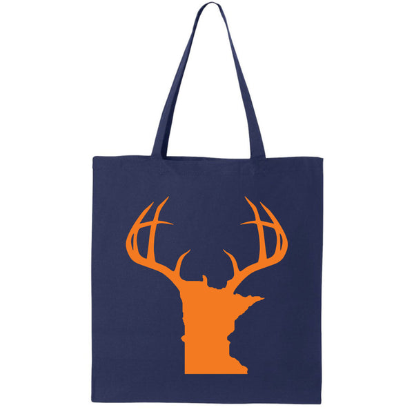 Antlers Minnesota Canvas Tote Bag