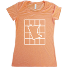 Checkered Minnesota T-Shirt - Women's Fitted