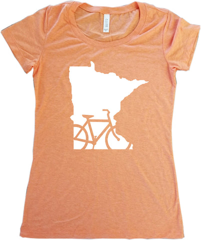 Bike Minnesota T-Shirt - Women's Fitted