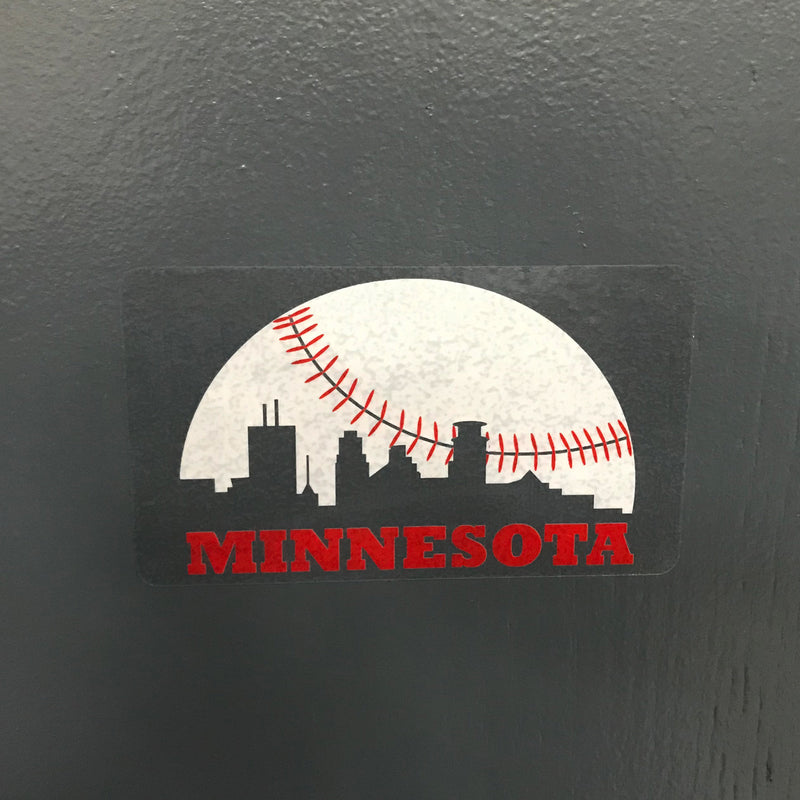 Skyline Minnesota Baseball Vinyl Sticker