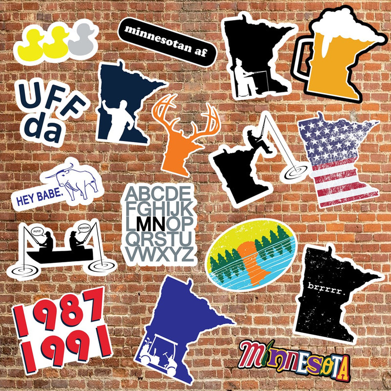 10 Pack - Minnesota Awesome Vinyl Stickers
