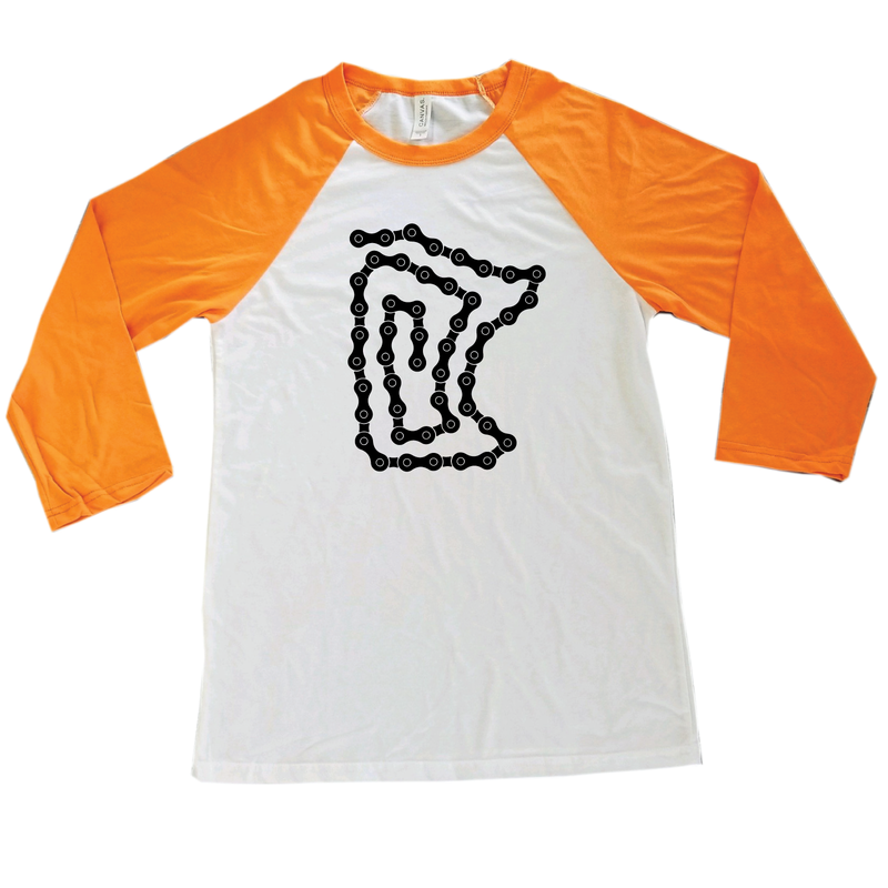 Bike Chain Minnesota Raglan