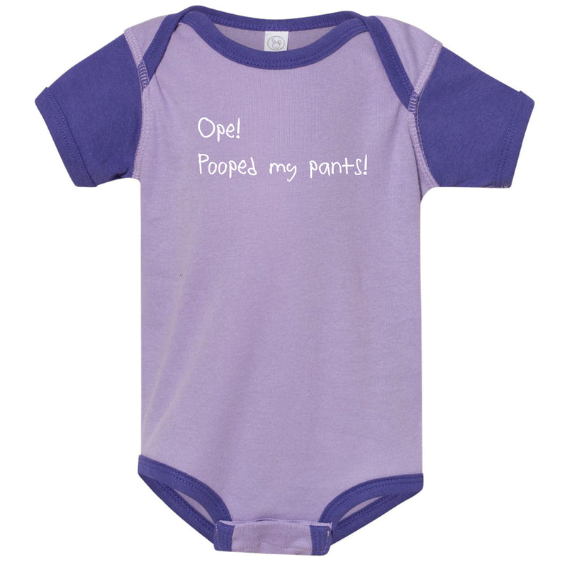 Ope! Pooped My Pants! Minnesota Infant Onesie