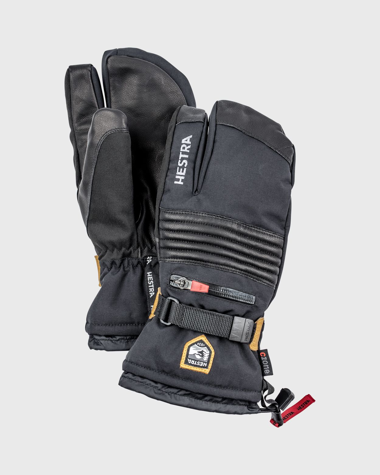 All Mountain Czone 3-Finger Gloves Hestra Black 6