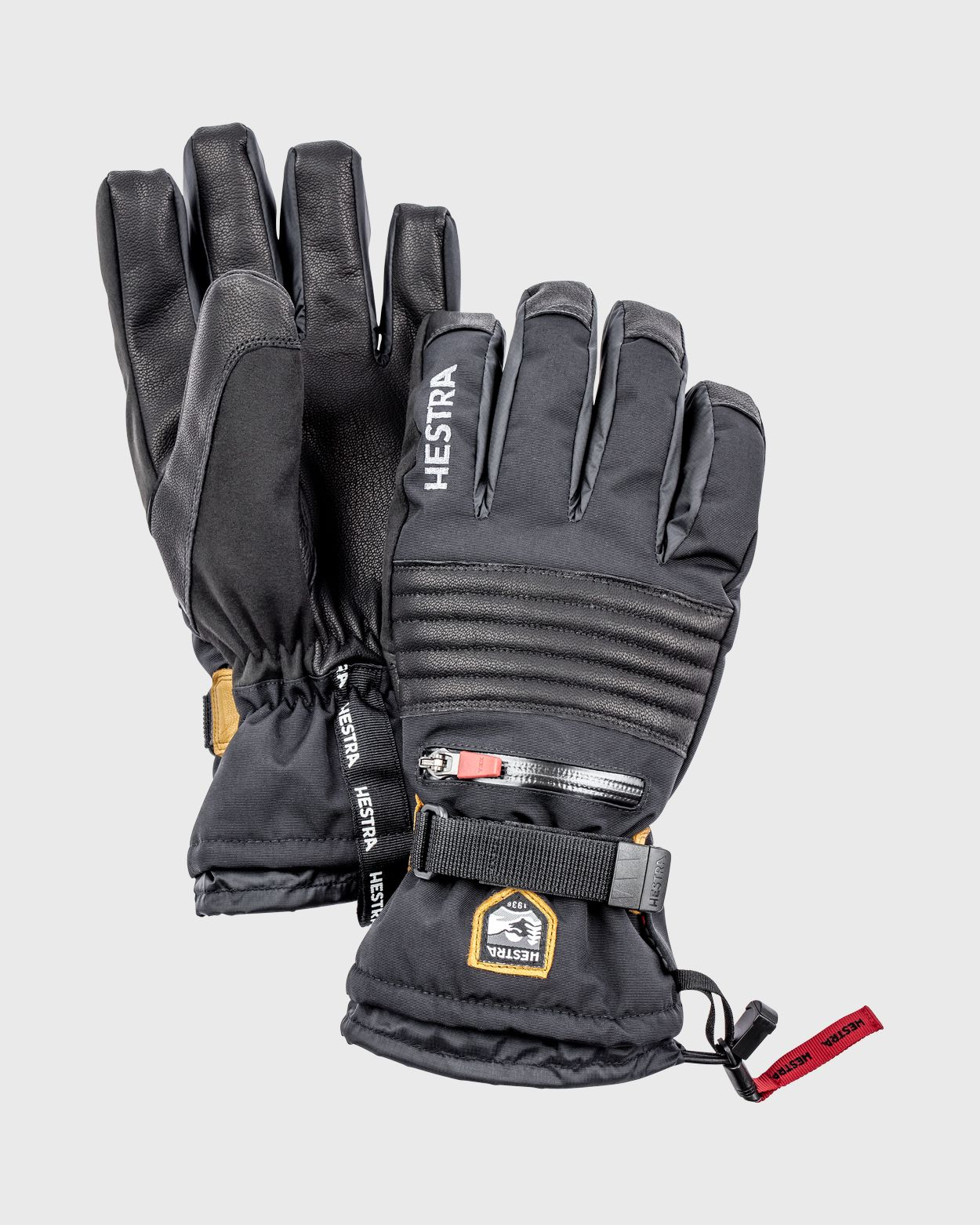 All Mountain CZone - 5 finger Gloves Hestra Black 6 - XS