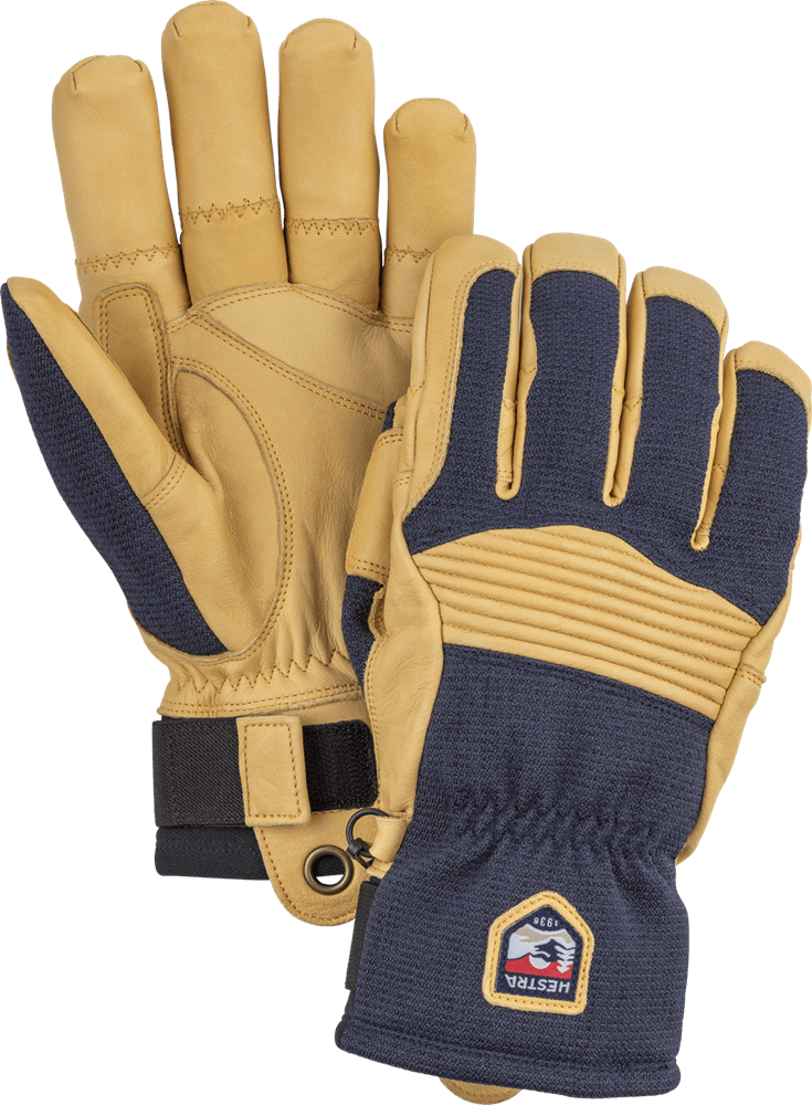 Army Leather Couloir Gloves Hestra Navy/Tan 8