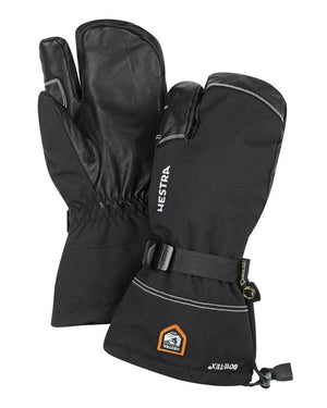 Army Leather Gore-Tex - 3 finger Gloves Hestra Black/Black 6