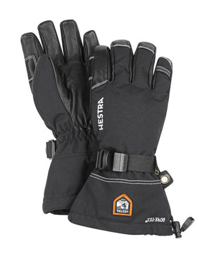 Army Leather Gore-Tex 5 finger Gloves Hestra Black/Black 7 - S