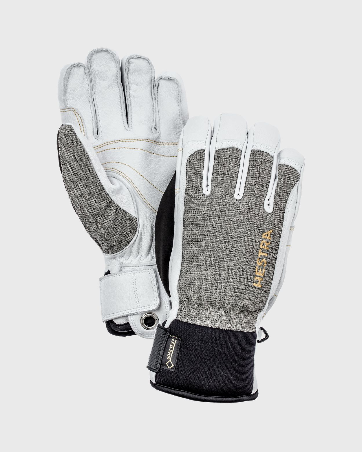 Army Leather Short Gore-Tex Glove Gloves Hestra Grey/White 7 - S