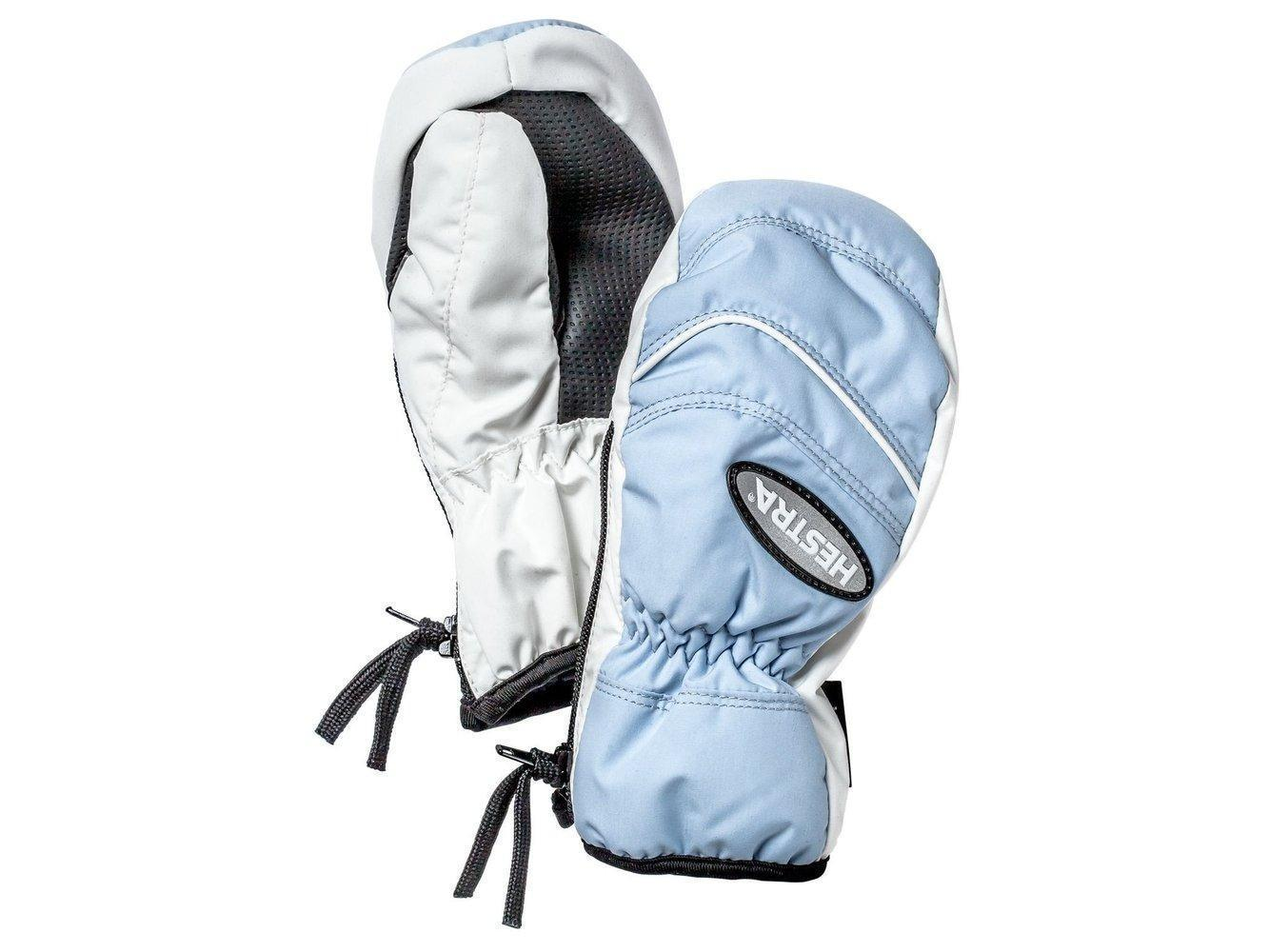 Baby Zip - Mitten Gloves Hestra Light Blue/Ivory 0