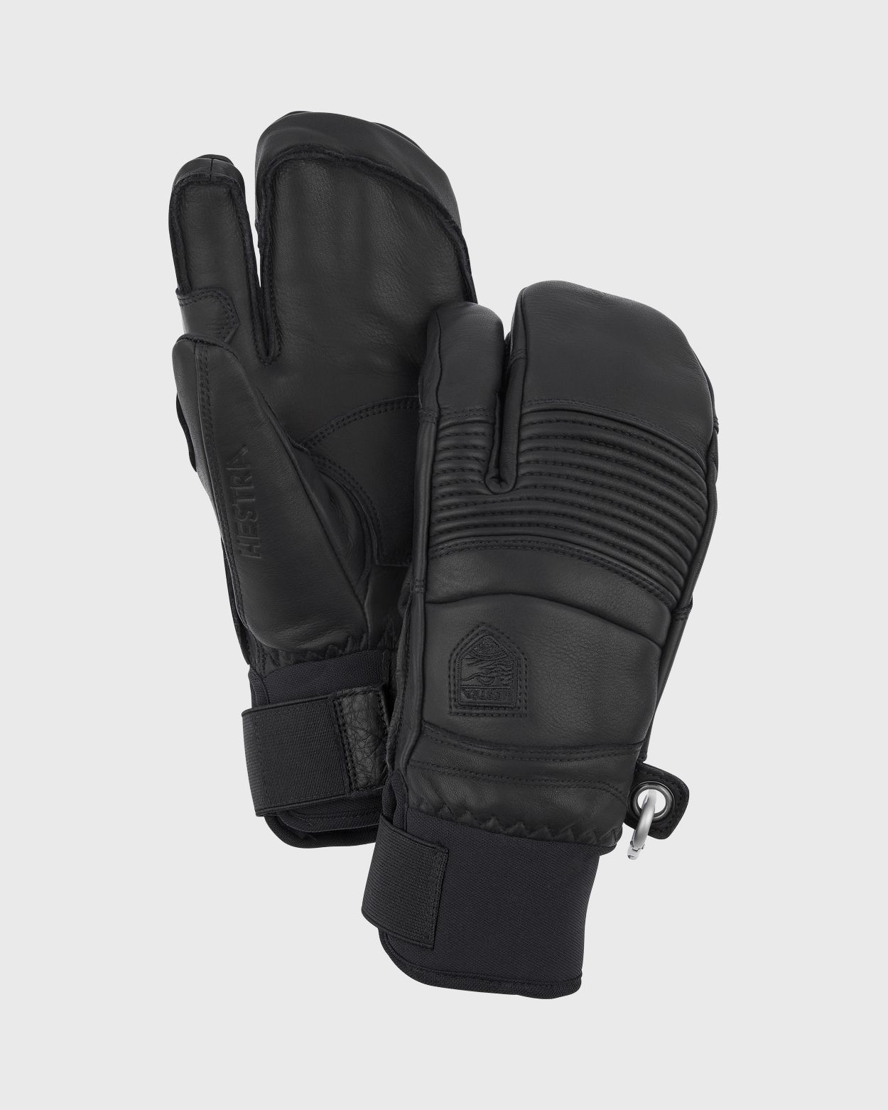 Leather Fall Line - 3 Finger Gloves Hestra Black 7