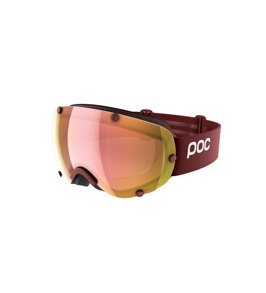 Lobes Clarity Ski Goggles POC Lactose Red/Spektris Rose Gold OS
