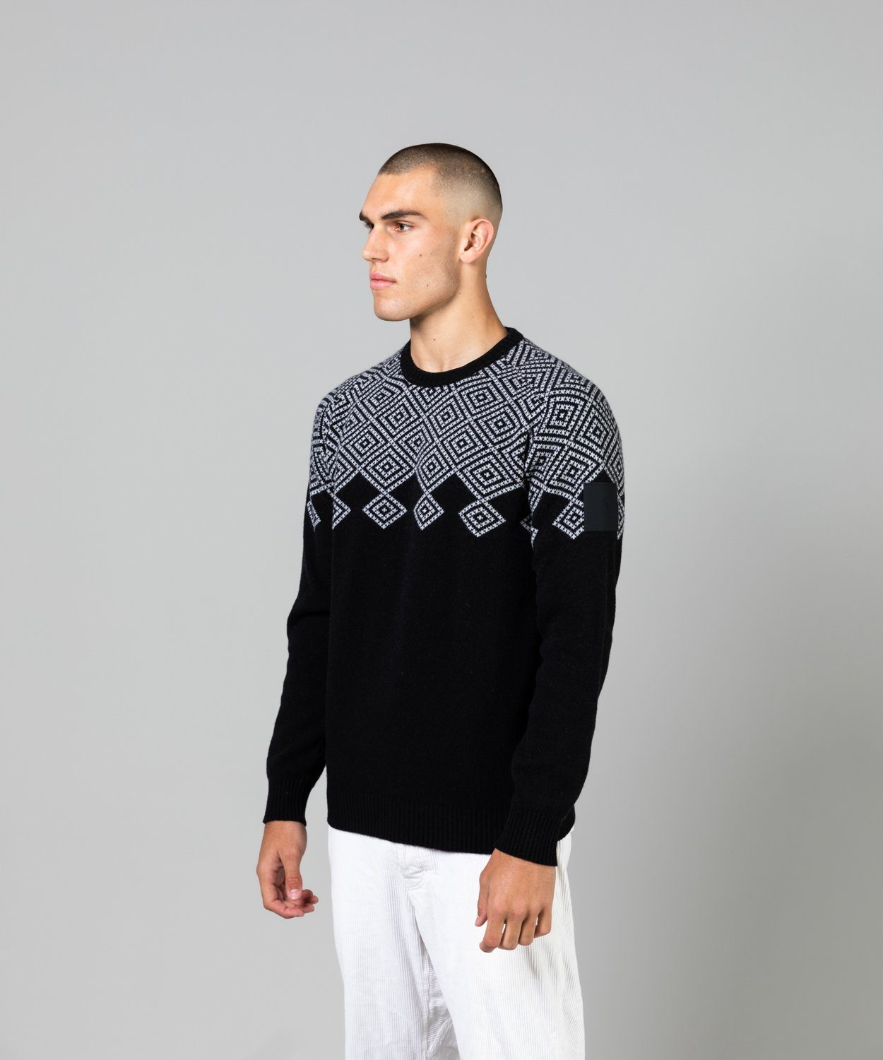 Men's Vernis Jaquard Crew Knit Sweaters | Knitwear Peak Performance