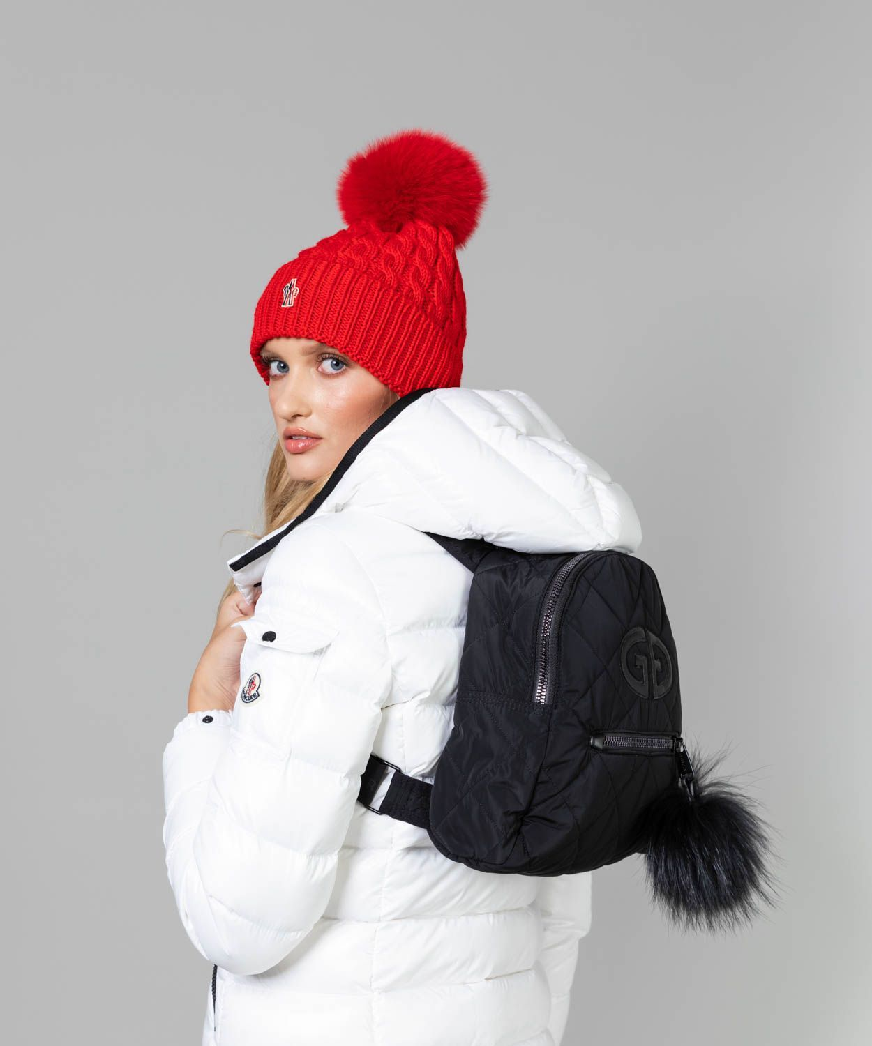 Nagisa Bag with Fur Pom Pom Bags Goldbergh