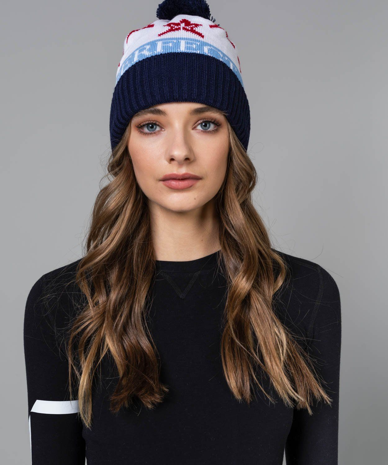 PM Star Beanie Hats | Beanies Perfect Moment Snow White/Navy OS