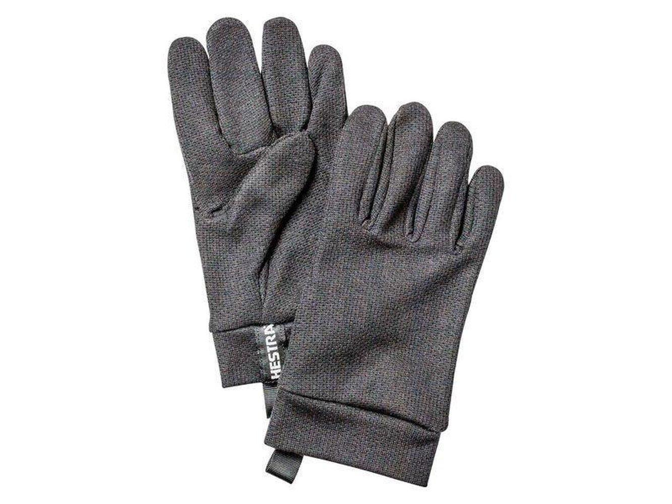 Polartec Power Dry - 5 finger Gloves Hestra Charcoal 9