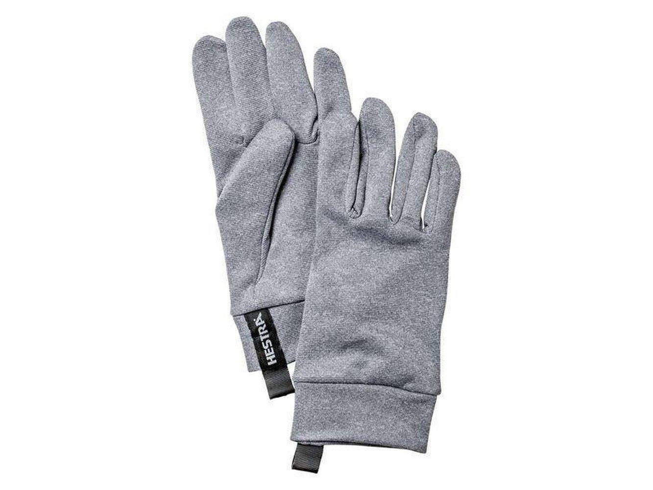 Polartec Power Dry - 5 finger Gloves Hestra Grey 9