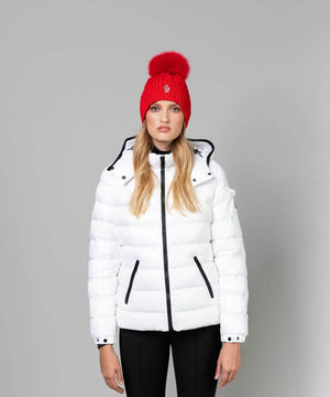 Women's Bady Hooded Jacket Jackets Moncler White 0/XS