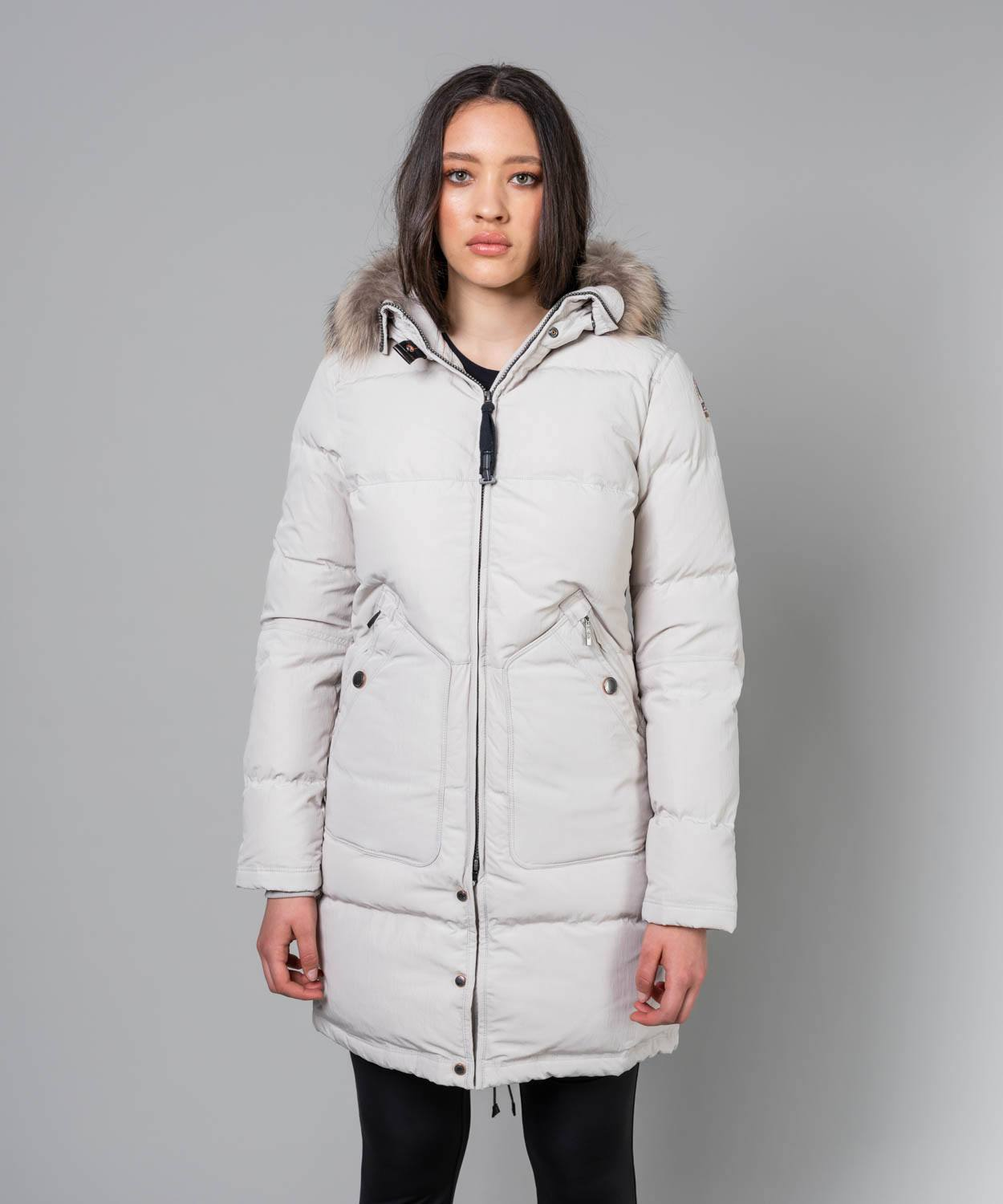 Women's Light Long Bear Hooded Down Coat Coats Parajumpers Rope S