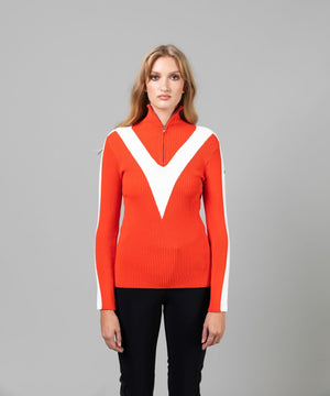 Women's Victoire Sweater Sweaters | Knitwear Fusalp Spicy Red XS