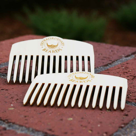 DELUXE WOOD BEARD COMB