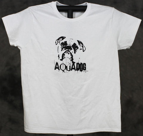 AquaDog Ladies Cut B Logo Gildan White Tee