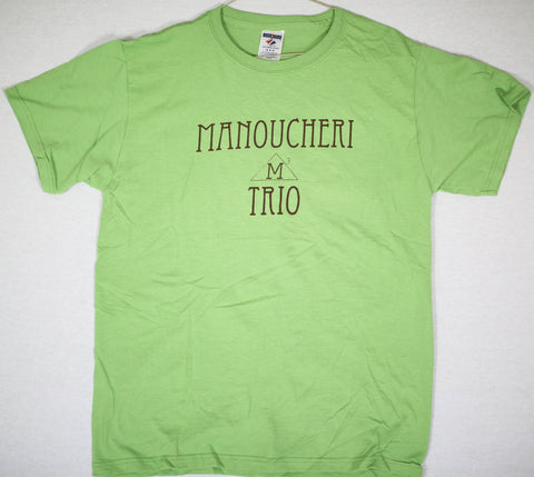 Manoucheri Trio Name/Logo Tee Lime Green Medium