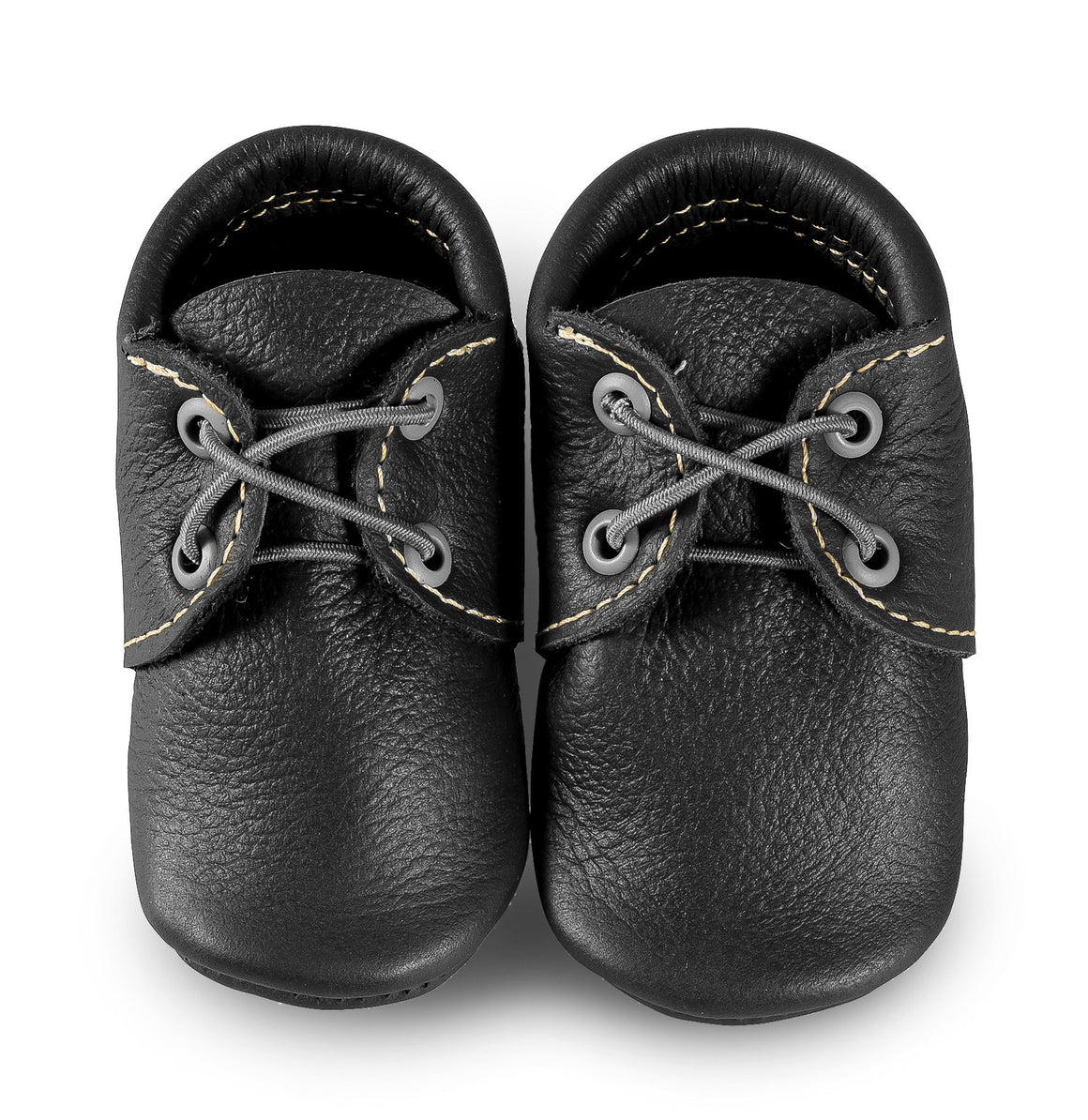 Black Oxford Boat Shoes
