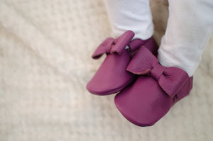 Plum Bow Moccasins