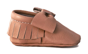 Classy Brown Bow Moccasins