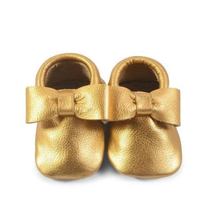 Gold Bow Moccasins